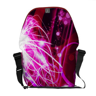 Abstract Pink Messenger Bags
