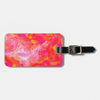 Abstract Pink Nebulla with Galactic Cosmic Cloud 3 Luggage Tag