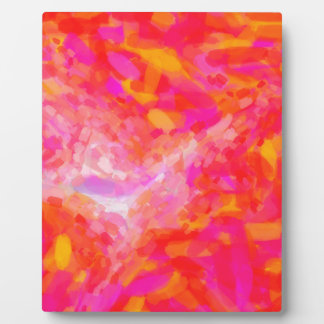 Abstract Pink Nebulla with Galactic Cosmic Cloud 3 Plaque