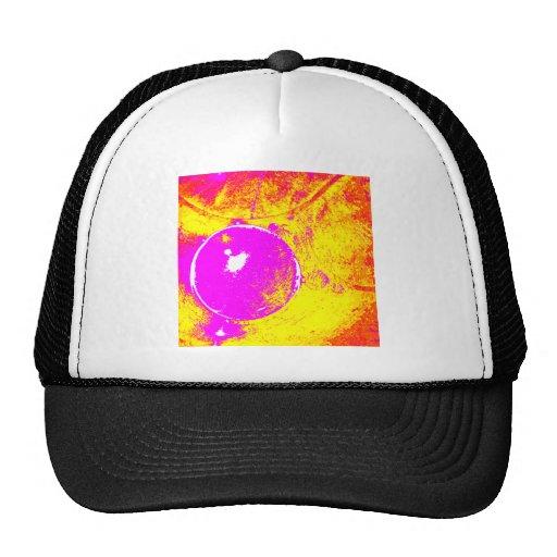 Abstract Pink Orange Purple Hat