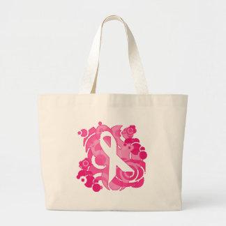 Abstract Pink Ribbon Products Canvas Bag