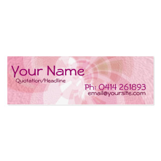 Abstract_Pink Skinny Profile Card Pack Of Skinny Business Cards