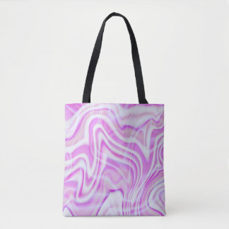 Abstract Pink Swirl Design Tote Bag