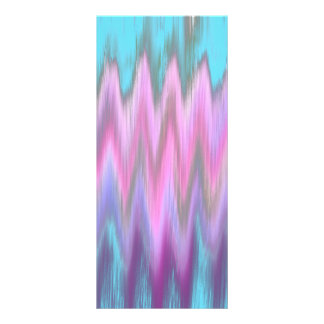 Abstract Pink Teal Girly Ikat Chevron Zigzag Rack Card