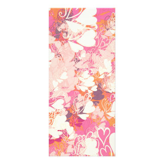 Abstract Pink White Watercolors Hearts Pattern Custom Rack Cards