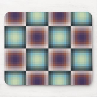 Abstract Pixel Grid Mouse Pad