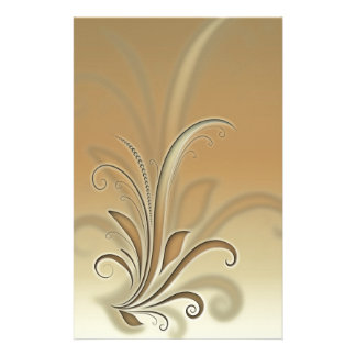 Abstract plant personalised stationery