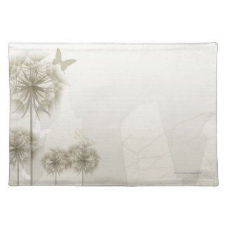 Abstract Plants and Butterflies Placemats