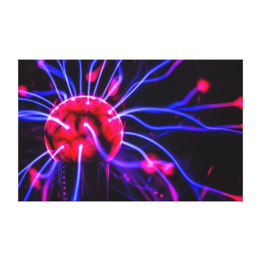 Abstract Plasma Globe Ball Macro Canvas Gallery Wrapped Canvas