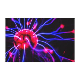 Abstract Plasma Globe Ball Macro Canvas Canvas Print