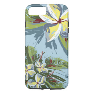 Abstract Plumeria Design iPhone 8 Plus/7 Plus Case