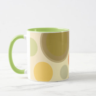 Abstract Polka Dot Design Coffee Mug