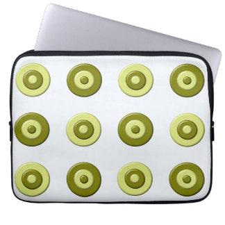 abstract polka dots. laptop sleeve