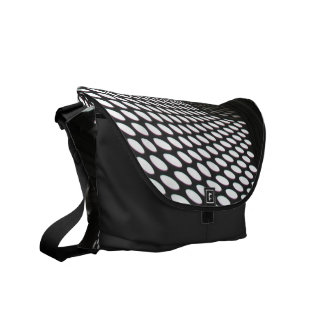 Abstract Polka Dots Courier Bags