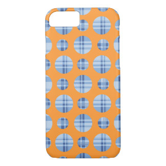 Abstract Polka Dots with Stripes iPhone 7 Case