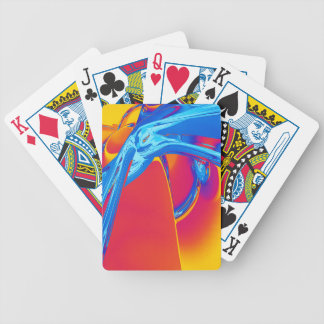 Abstract Pop Art Graphic Bicycle Playing Cards