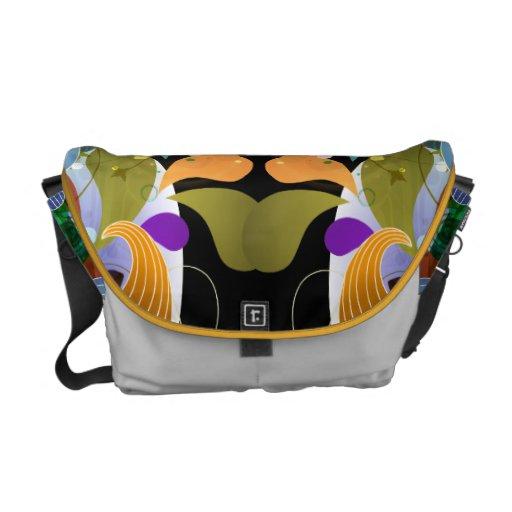 Abstract Pop Art Vector Graphic Messenger Bags