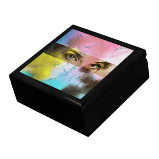 Abstract pop retro art, tile gift box - Stare
