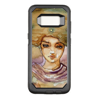 Abstract portrait and pretty woman OtterBox commuter samsung galaxy s8 case