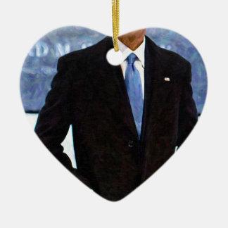 Abstract Portrait of President Barack Obama 10 Ceramic Ornament