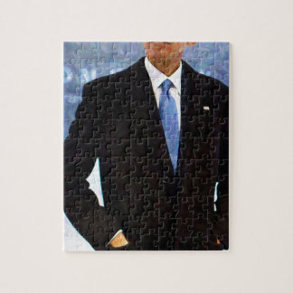 Abstract Portrait of President Barack Obama 10 Jigsaw Puzzle