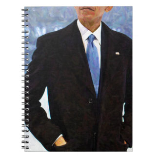 Abstract Portrait of President Barack Obama 10 Spiral Note Book