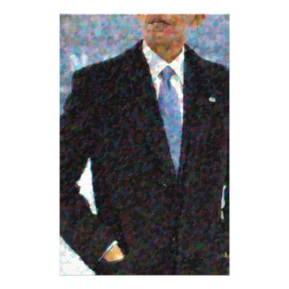 Abstract Portrait of President Barack Obama 10a.jp Stationery