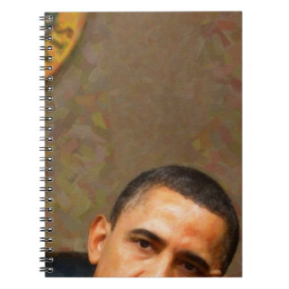Abstract Portrait of President Barack Obama 11 Notebooks