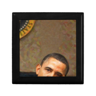Abstract Portrait of President Barack Obama 11 Small Square Gift Box