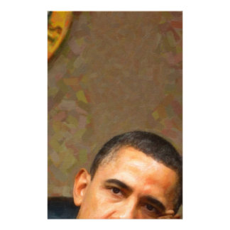 Abstract Portrait of President Barack Obama 11 Stationery