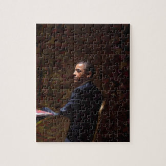 Abstract Portrait of President Barack Obama 13 Jigsaw Puzzle