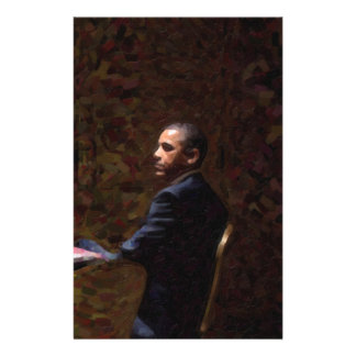 Abstract Portrait of President Barack Obama 13 Stationery