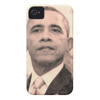 Abstract Portrait of President Barack Obama 30x30 Case-Mate iPhone 4 Case