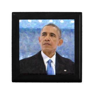 Abstract Portrait of President Barack Obama 30x30 Gift Box