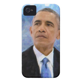 Abstract Portrait of President Barack Obama 30x30 iPhone 4 Case-Mate Case