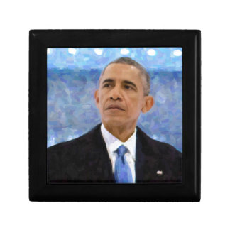 Abstract Portrait of President Barack Obama 30x30 Small Square Gift Box