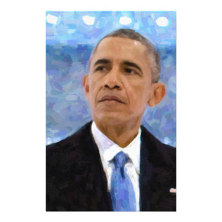 Abstract Portrait of President Barack Obama 30x30 Stationery