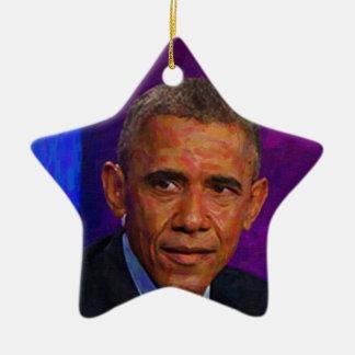 Abstract Portrait of President Barack Obama 7 Ceramic Ornament