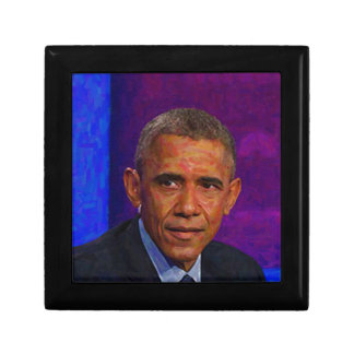 Abstract Portrait of President Barack Obama 7 Small Square Gift Box
