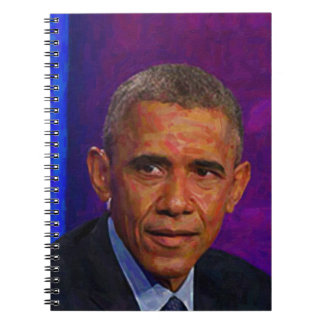 Abstract Portrait of President Barack Obama 7 Spiral Note Books