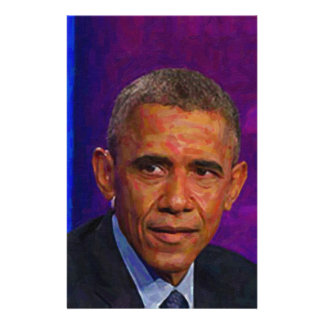 Abstract Portrait of President Barack Obama 7 Stationery