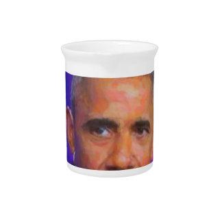 Abstract Portrait of President Barack Obama 8 a.jp Drink Pitcher