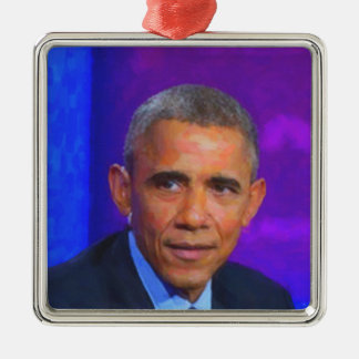 Abstract Portrait of President Barack Obama 8 a.jp Metal Ornament