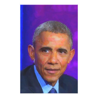Abstract Portrait of President Barack Obama 8 a.jp Stationery