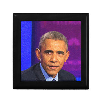 Abstract Portrait of President Barack Obama 8 Small Square Gift Box