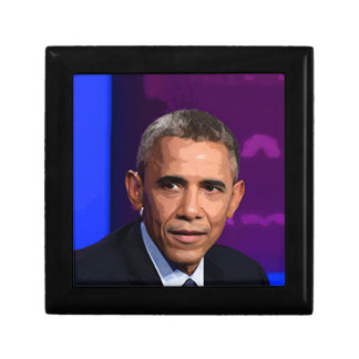 Abstract Portrait of President Barack Obama 9 Small Square Gift Box