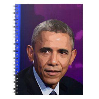 Abstract Portrait of President Barack Obama 9 Spiral Notebooks
