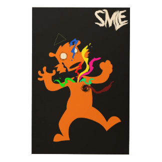 Abstract poster -SMLE- Wood Canvas