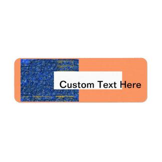Abstract Postpaper Return Address Label