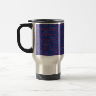 Abstract Print Navy Red Spotty Cup